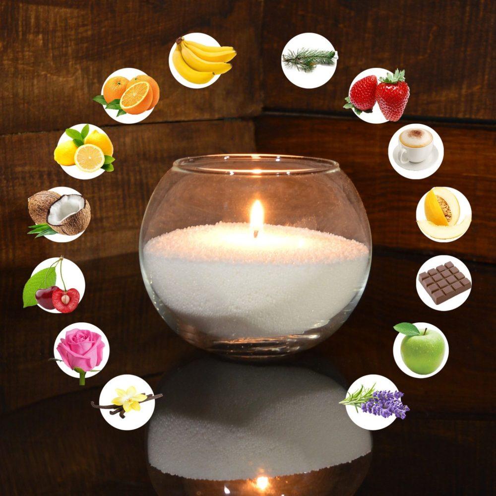 Белые ароматизированные насыпные свечи 1 кг + 1 м фитиля