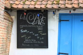 Montreuil - creperie Le Clape ardoise