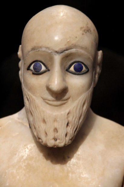 mesopotamie - yeux lapis lazulis