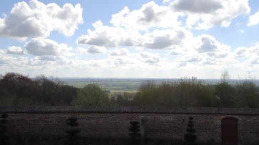 Cassel - vue depuis les jardins du musée de Flandres