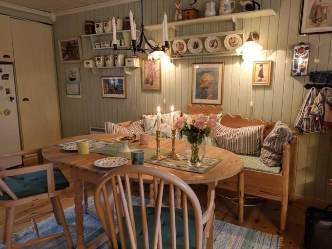 Lilleheier Gård stue i hyggelig stil