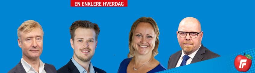 Toppsidebilde med Lillestrøm FrPs logo og kandidater