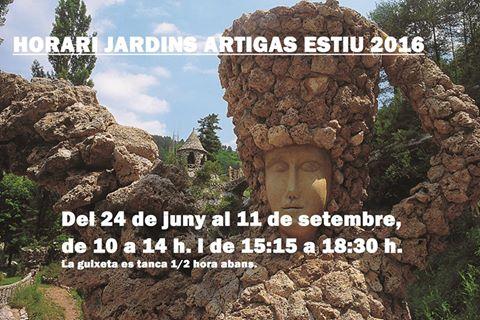 20160624 Horaris Jardins Artigas estiu 2016