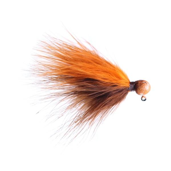 marabou jig 1/16oz brown/orange - orange head
