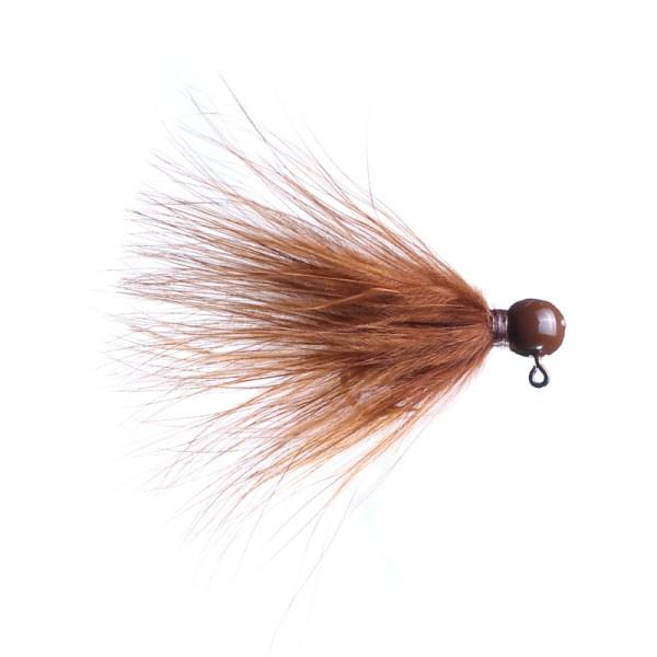 marabou jig 1/32oz brown - brown head