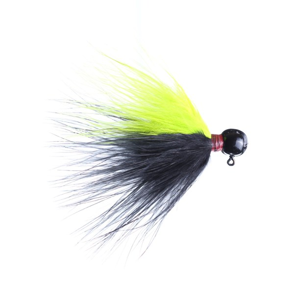 marabou jig 1/8oz black/chartreuse