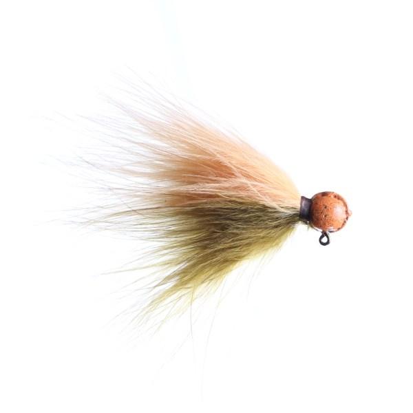 marabou jig 1/8oz sculpin/peach - orange head