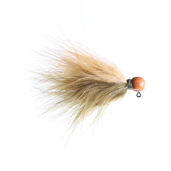 marabou jig 3/32oz sculpin/ginger - orange head