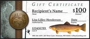 Lilleys' Landing Gift Certificate