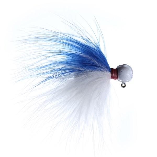 marabou jig 1/8 blue/white white head