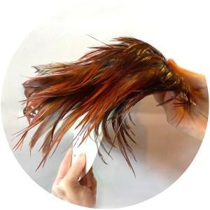 Cock Saddle Patch – Premium – Brown