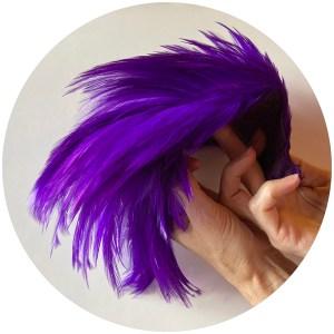 Streamer Rooster Neck – Purple