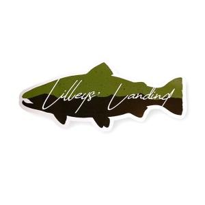 Lilleys' Landing Die Cut Trout Sticker