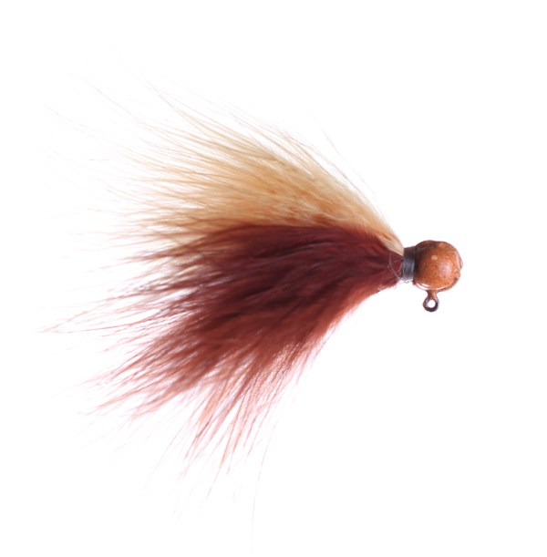 brown and peach marabou jig