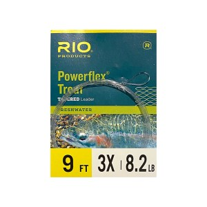 Rio Powerflex Trout Tapered Leader – 9ft.