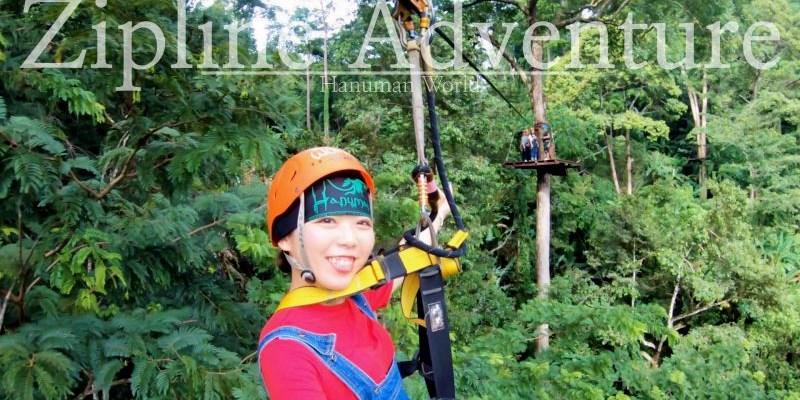 普吉島景點|叢林飛索Hanuman World 超好玩不可怕 在森林當泰山!