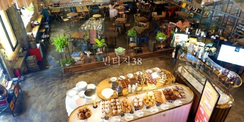 釜山西面咖啡廳 24小時營業復古工業風빈티지38,超美超好拍!