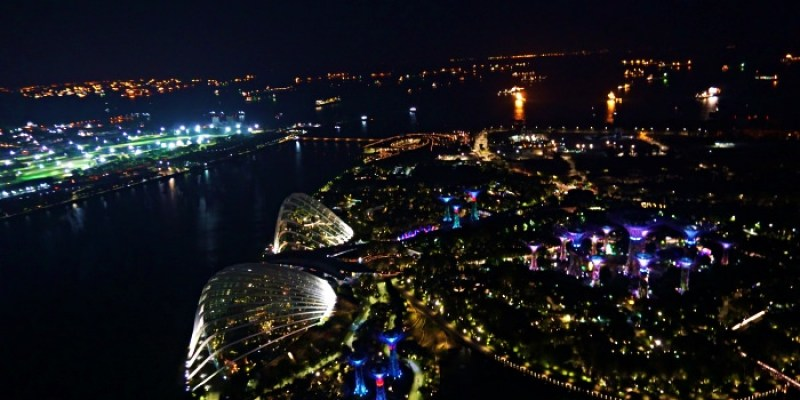 新加坡景點|金沙酒店空中花園特價門票、入口交通,不進酒吧也有百萬夜景