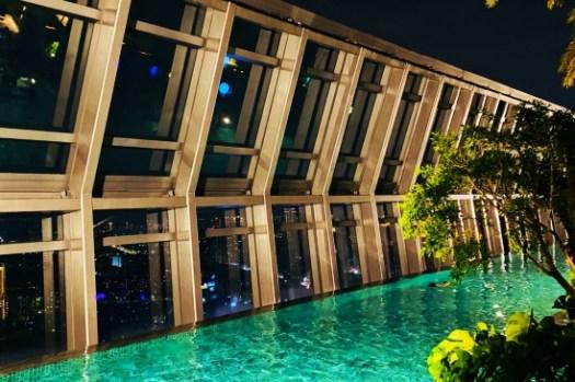 板橋住宿推薦|板橋凱撒大飯店百萬夜景、大理石浴缸、無邊際泳池