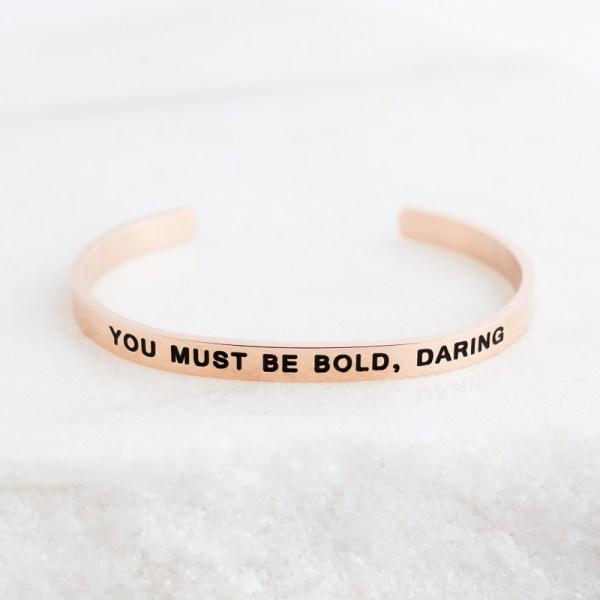 Inspirational Jewelry Bracelet Rose Gold