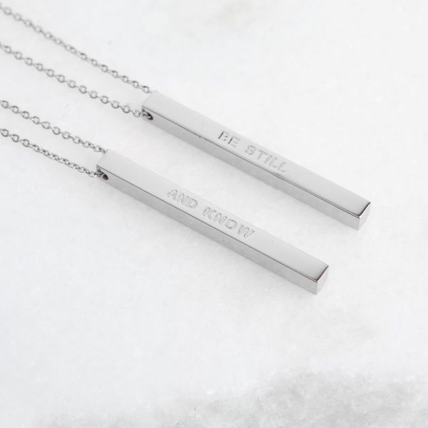Religious Spiritual Christian Jewelry Necklace Faith Scripture