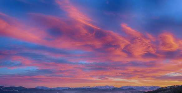 Sunset or sunrise clouds.