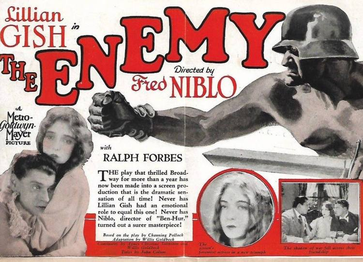 HOLLYWOOD US MOVIE HERALD Poster - The Enemy B