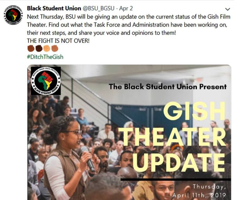 Black Student Union on Twitter - Hashtag - DITCH THE GISH