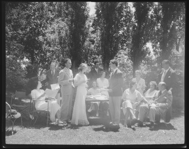 Camille Cast with R.E. Jones and Lillian Gish in Chappel Garden by Laura Gilpin Amon Carter Museum of American Art, Fort Worth, Texas 1932