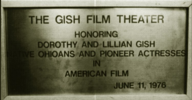 Gish Film Theater Plaque