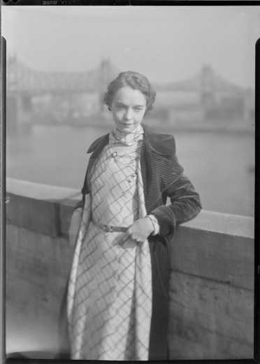 Nell Dorr (1893-1988); [Lillian Gish wearing checked dress, bridge in background]; nitrate negative; Amon Carter Museum of American Art; Fort Worth TX; P1990.47.3526