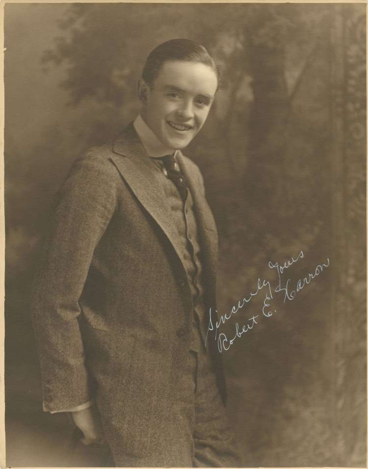 Robert Harron Signed Promotional