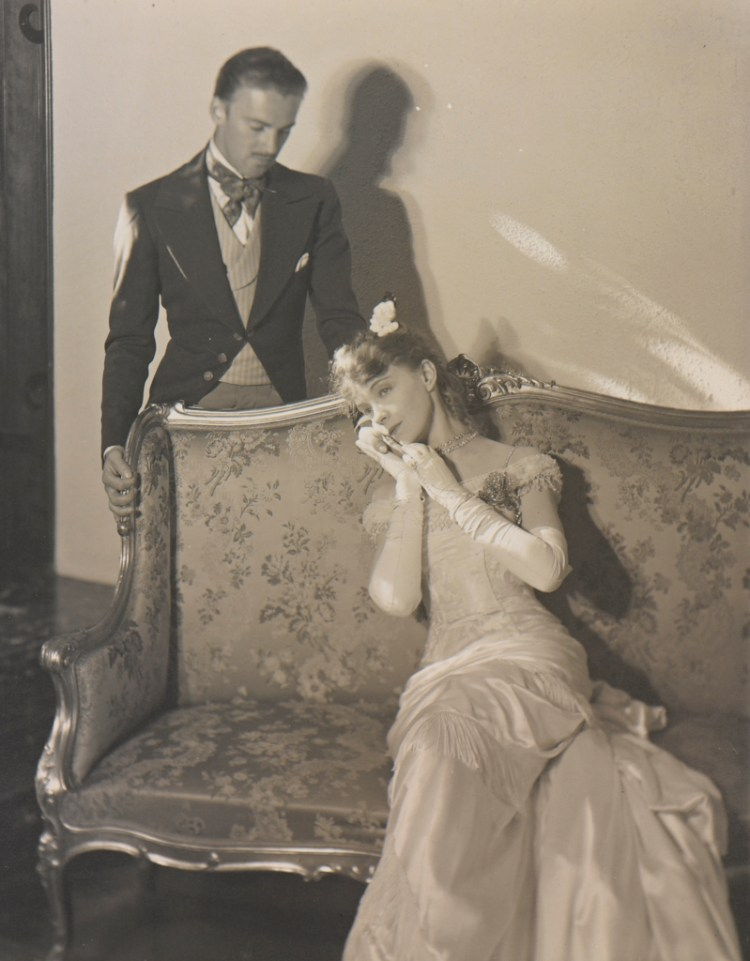Lillian Gish and Raymond Hackett in Camille, Central City, Colorado. First Production in the Old Opera House