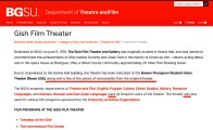 The BGSU website - Gish Theater description