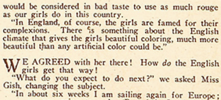 American Girl using rouge text 5