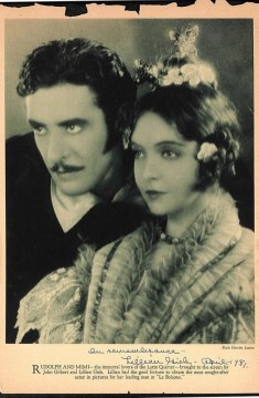 John Gilbert and Lillian Gish (La Boheme)1