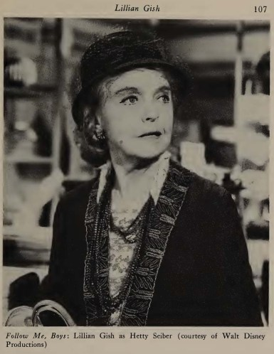 Follow Me, Boys - Lillian Gish as Hetty Seiber (courtesy of Walt Disney Productions)