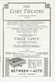 Lillian Gish UNCLE VANYA Osgood Perkins - Walter Connolly 1930 Opening Program 2