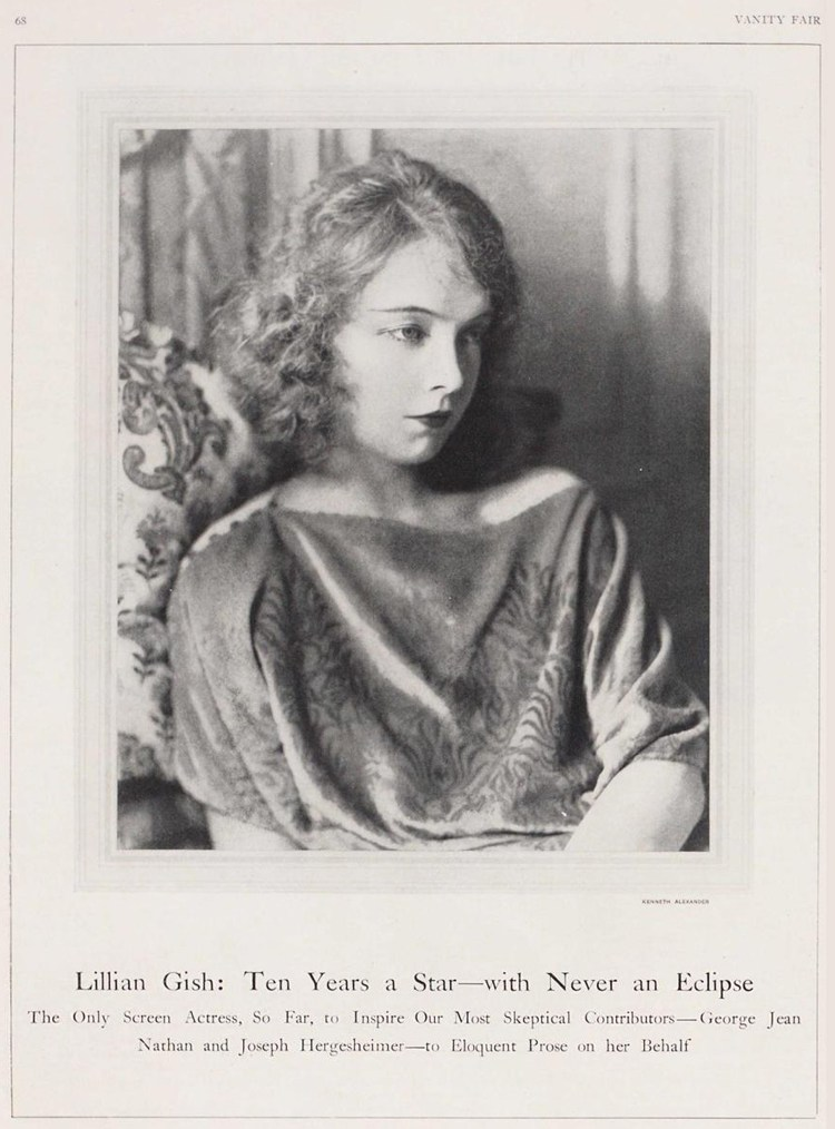 Lillian Gish - Vanity Fair April 1925
