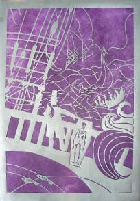Lillian Trettin art - narrative papercut