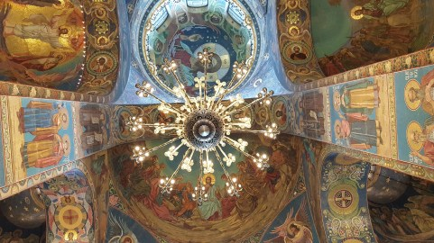 Ceilings of Savior on the Spilled Blood Cathedral