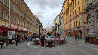 One alley at Nevsky Prospect