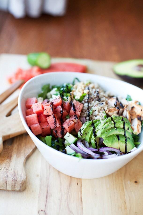 Summer Watermelon and Quinoa Salad