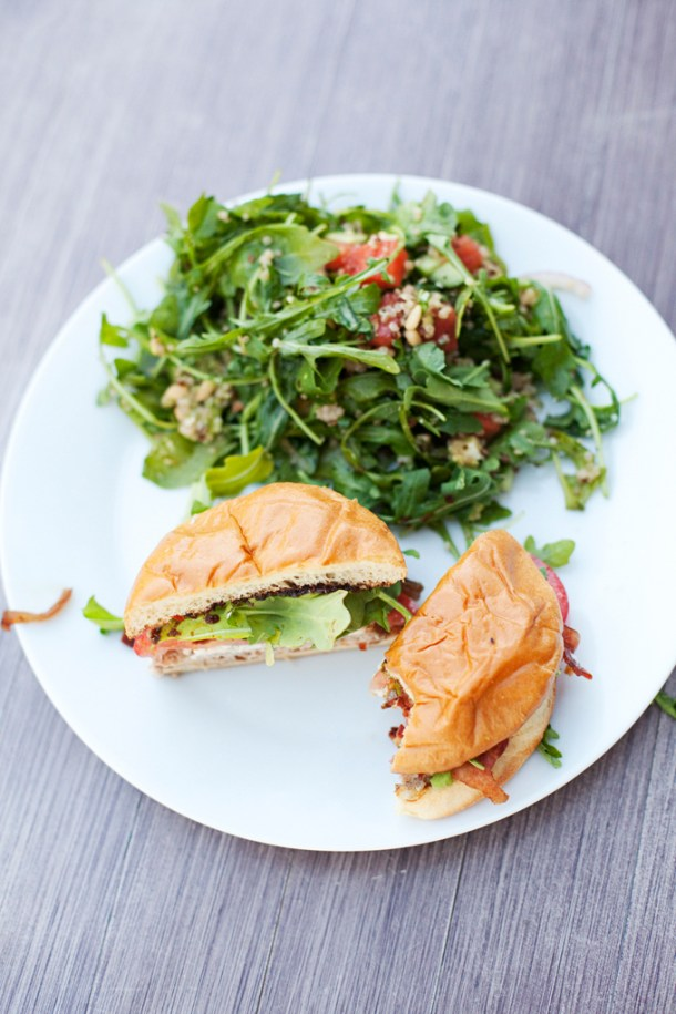Fig and Blue cheese Turkey Burger