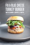 Photo of burger with text overlay
