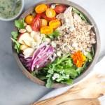 Waldorf Quinoa Arugula Salad www.Lillieeatsandtells.com