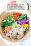 Thai salad with text overlay