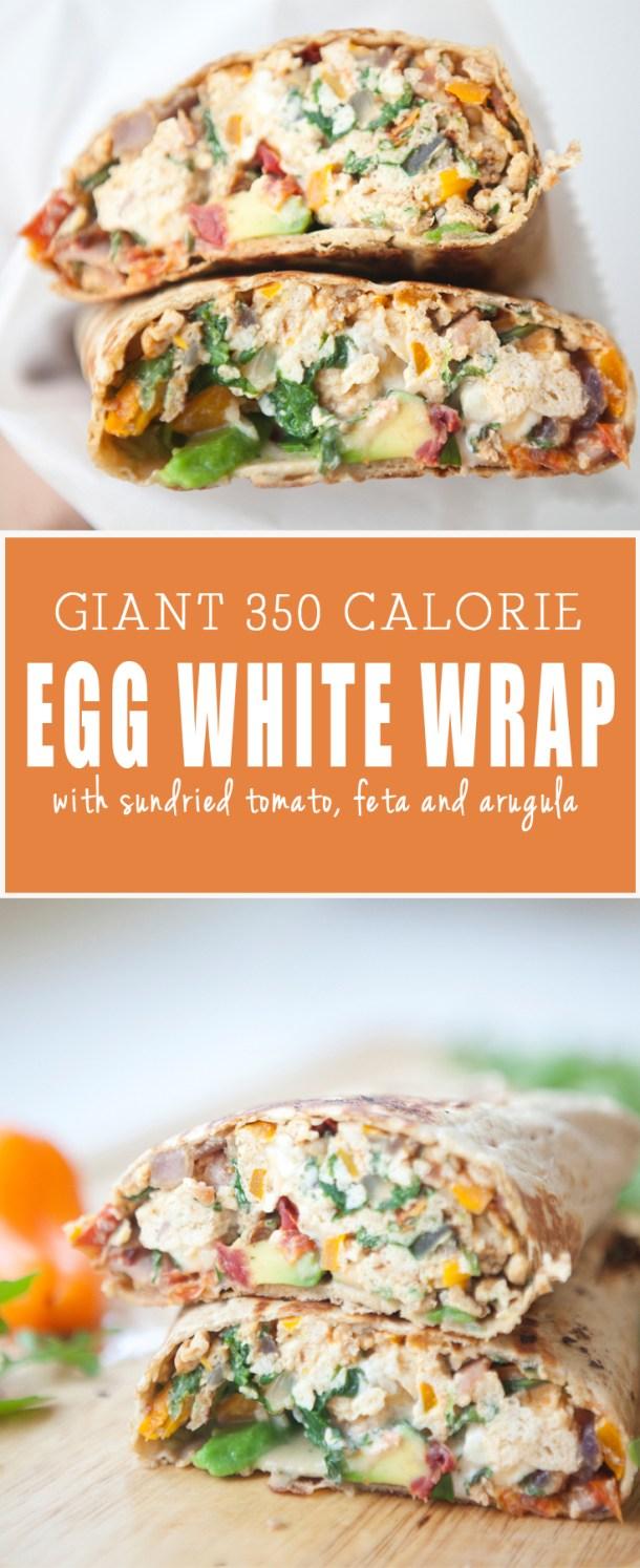 Egg White Wrap with feta and sundried tomato www.lillieeatsandtells.com