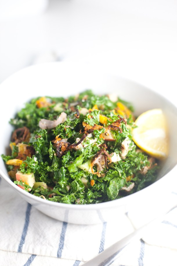 Kale Salad with Delicata Squash www.lillieeatsandtells.com