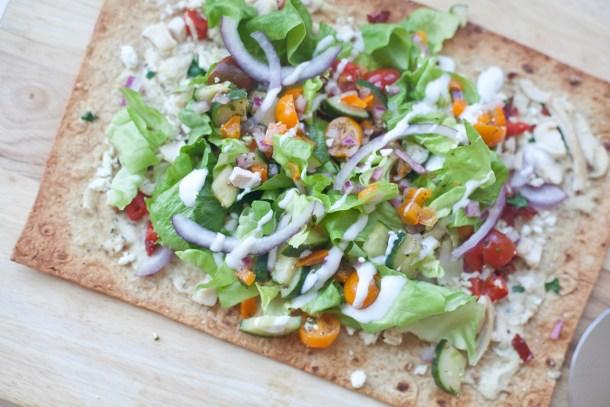 Super Skinny Greek flatbread pizza www.lillieeatsandtells.com